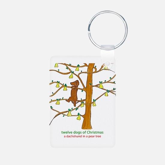 A Dachshund in a Pear Tree Keychains