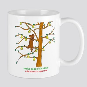 A Dachshund in a Pear Tree Mugs
