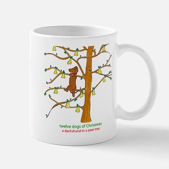 A Dachshund in a Pear Tree Mugs