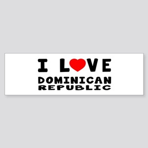 I Love Dominican Republic Sticker (Bumper)