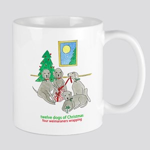 Four Weimaraners Wrapping Mug