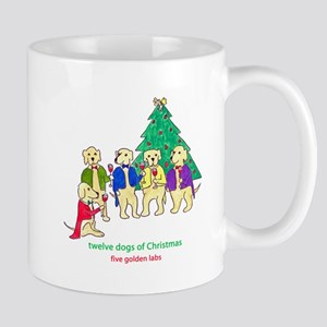 Five Golden Labs Mugs