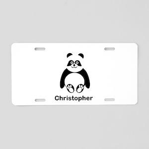 Personalized Panda Bear Aluminum License Plate