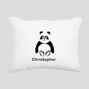 Personalized Panda Bear Rectangular Canvas Pillow