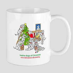 Nine Dalmatians Decorating Mug