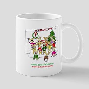 Twelve Chihuahuas Caroling Mug