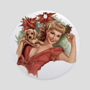 A Lovely Holiday Ornament (Round)