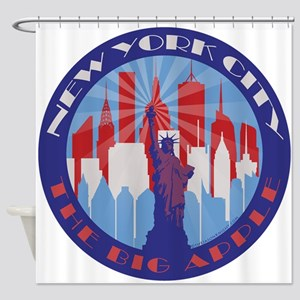 NYC Big Apple patriot Shower Curtain