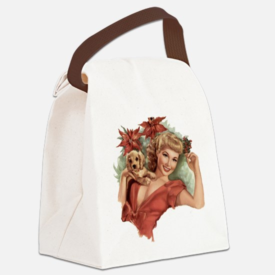A Lovely Holiday Canvas Lunch Bag