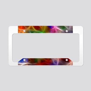 Fractal Rainbow License Plate Holder