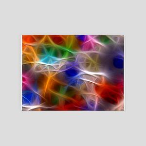 Fractal Rainbow 5'x7'Area Rug