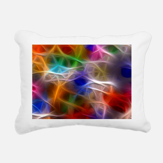 Fractal Rainbow Rectangular Canvas Pillow