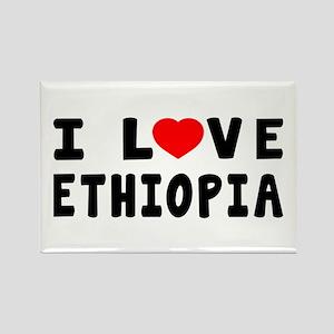 I Love Ethiopia Rectangle Magnet