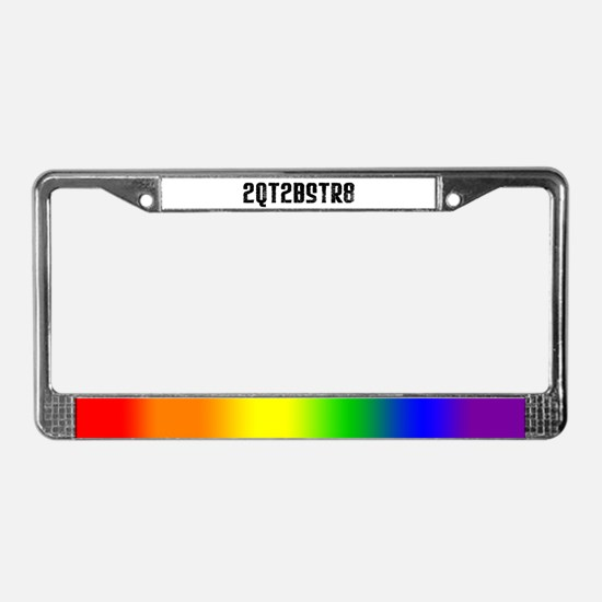2QT2BSTR8 License Plate Frame