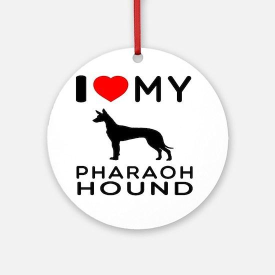 I Love My Pharaoh Hound Ornament (Round)