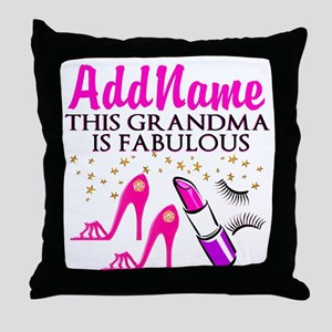FABULOUS GRANDMA Throw Pillow