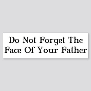 Face of Your Father/Dark Tower Bumper Sticker