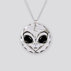 Lucky7's Alien Head Necklace Circle Charm