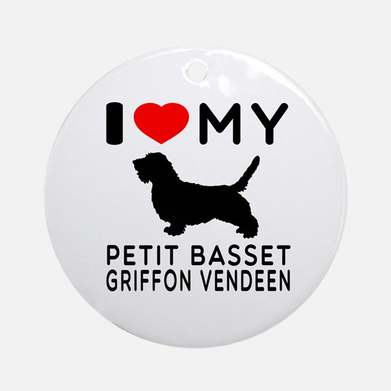 I Love My Petit Basset Griffon Vendeen Ornament (R