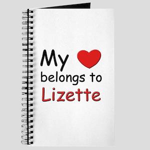 My heart belongs to lizette Journal