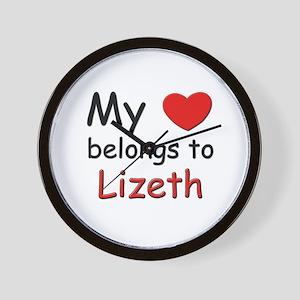 My heart belongs to lizeth Wall Clock