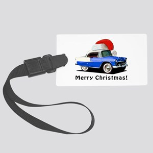 BabyAmericanMuscleCar_55BAXmas_Blue Luggage Tag