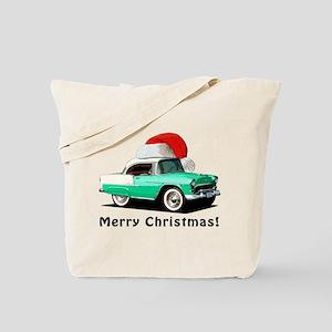 BabyAmericanMuscleCar_55BAXmas_green Tote Bag