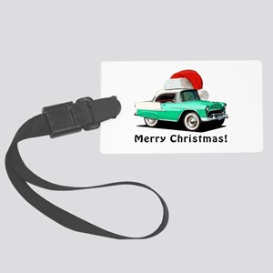 BabyAmericanMuscleCar_55BAXmas_green Luggage Tag