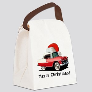 BabyAmericanMuscleCar_55BAXmas_red Canvas Lunch Ba