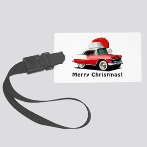 BabyAmericanMuscleCar_55BAXmas_red Luggage Tag