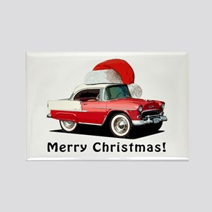 BabyAmericanMuscleCar_55BAXmas_red Magnets