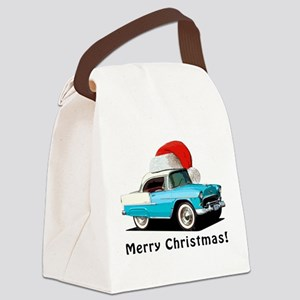 BabyAmericanMuscleCar_55BAXmas_skyblue Canvas Lunc