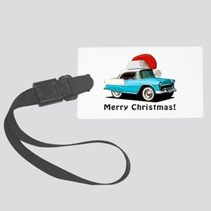 BabyAmericanMuscleCar_55BAXmas_skyblue Luggage Tag