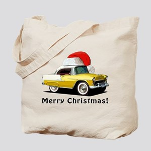 BabyAmericanMuscleCar_55BAXmas_yellow Tote Bag