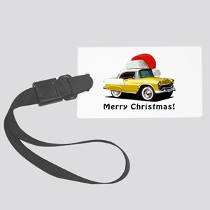BabyAmericanMuscleCar_55BAXmas_yellow Luggage Tag
