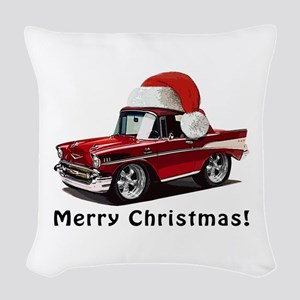 BabyAmericanMuscleCar_57BelR_Xmas_Red Woven Throw