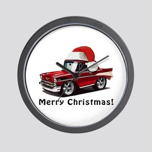 BabyAmericanMuscleCar_57BelR_Xmas_Red Wall Clock