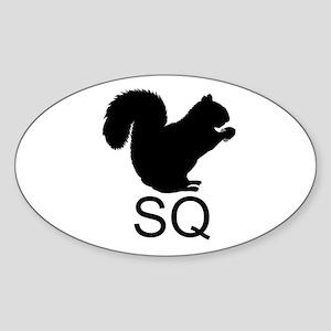 Euro Squirrel Oval Sticker