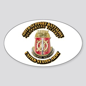 Army - 489th Support Bn with Text Sticker (Oval)