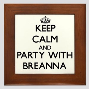 Keep Calm and Party with Breanna Framed Tile