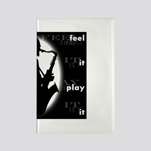 feel it play it Rectangle Magnet