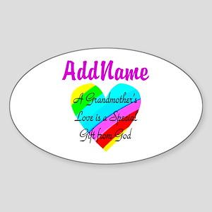 GRANDMA'S LOVE Sticker (Oval)