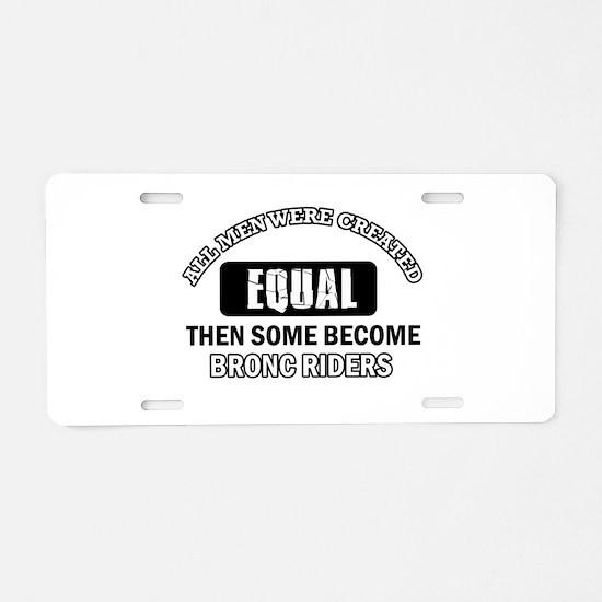 Bronc Riders design Aluminum License Plate