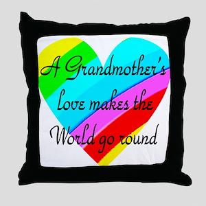 LOVE MY GRANDMA Throw Pillow