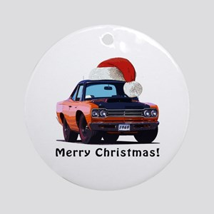 BabyAmericanMuscleCar_69_RoadR_Orange Ornament (Ro