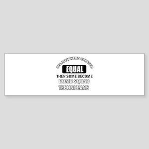 Bomb Squad Technicial Design Sticker (Bumper)
