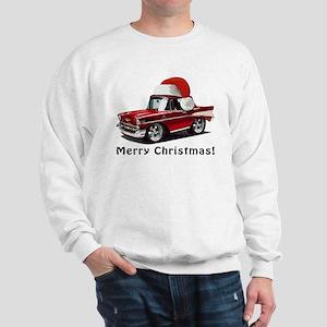 BabyAmericanMuscleCar_57BelR_Xmas_Red Sweatshirt