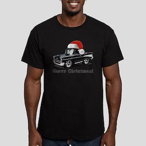 BabyAmericanMuscleCar_57BelR_Xmas_Black T-Shirt