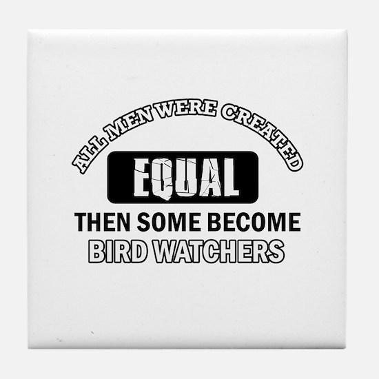 Bird Watchers Design Tile Coaster