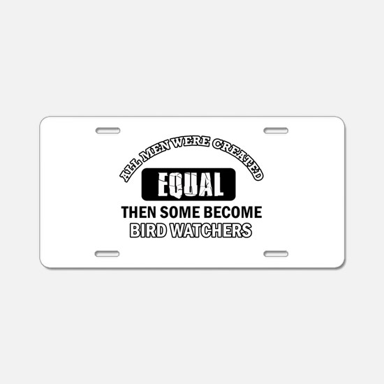 Bird Watchers Design Aluminum License Plate